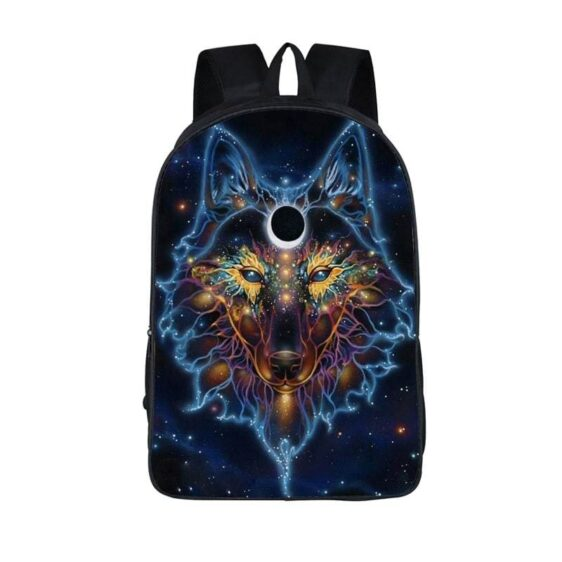 Mesmerizing Wolf Constellation Lupus Colored Art Backpack