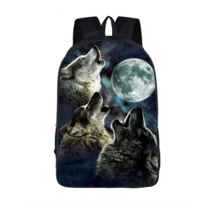 Mighty Wolfpack Howling under the Shady Moonlight Backpack