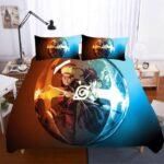 Naruto And Sasuke Fight Bubble Reflection Bedding Set