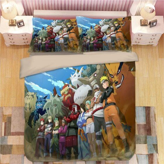 Naruto Power of Human Sacrifice Tailed Beasts Bedding Set