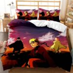 Naruto Sage Mode Sasuke And Sakura Dusk View Bedding Set