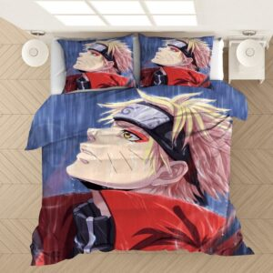 Naruto Sage Mode Under The Rain Fan Art Bedding Set