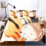 Naruto Shippuden Adorable Baby Kurama And Naruto Bedding Set