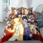 Naruto Shippuden Anime Main Characters Red Bedding Set