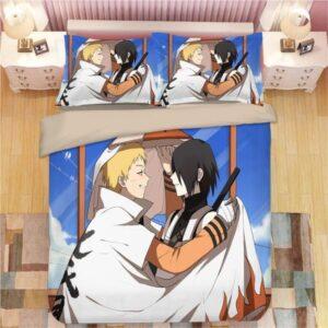 Naruto The Seventh Hokage and Sasuke Fan Art Bedding Set