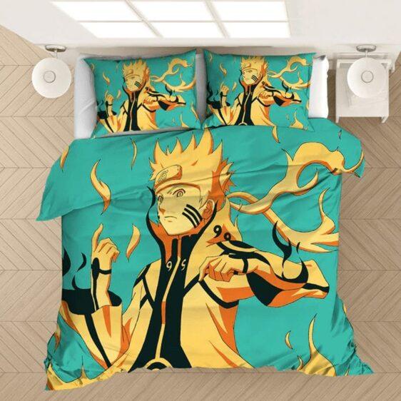 Naruto Uzumaki Flaming Kurama Chakra Mode Bedding Set