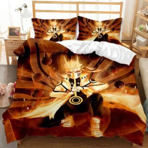 Naruto Uzumaki Hand Jutsu Sage of Six Paths Bedding Set
