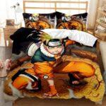 Naruto Uzumaki Kurama Eyes Vibrant Fan Art Bedding Set