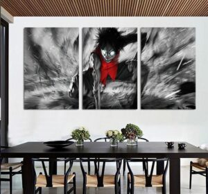 One Piece Scary Pirate King Luffy Gear Two 3pcs Canvas Print
