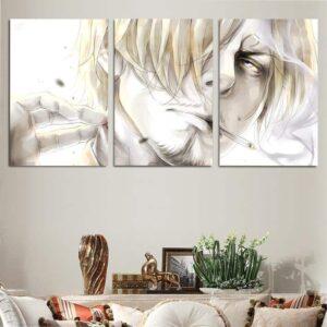 One Piece Vinsmoke Black Leg Sanji Awesome 3pcs Canvas Print