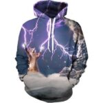 Powerful Cat Control Thunderstorm Cloudy Trendy Full Lightning Hoodie - Woof Apparel
