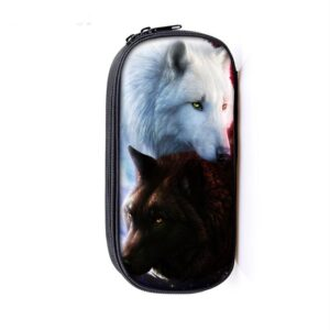 Rare Black and White Wolf Canidae Family Amazing Pencil Case