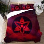 Sasuke Uchiha Mangekyō Sharingan Bloody Red Bedding Set