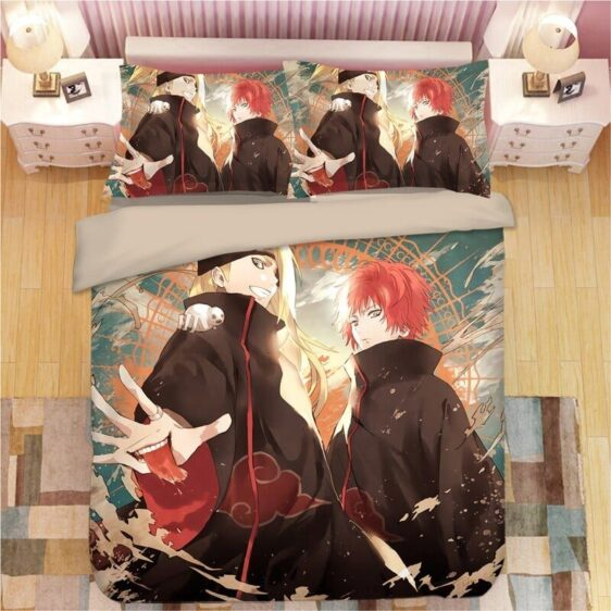 Second Akatsuki Partner Deidara And Sasori Bedding Set