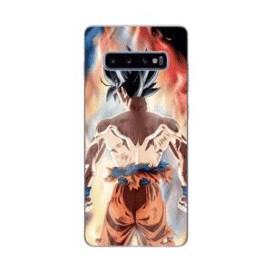 Son Goku Glowing Multicolor Aura Samsung Galaxy S10 Case
