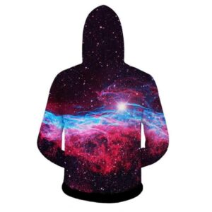 Space Galaxy Blue Eyes Cat Eating Taco Pizza Awesome Hoodie - Woof Apparel