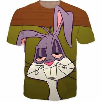 Stoned Fucked Up Dilated Eyes Rabbit Comic Hip Hop Style T-Shirt - Woof Apparel