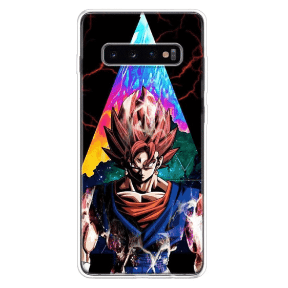 Super Saiyan God Goku Many Hued Samsung Galaxy S10 Case