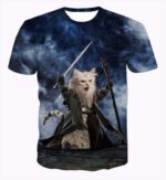 The Lord of the Rings Scary Wizard White Cat Incredible Blue 3D T-Shirt - Woof Apparel
