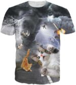 Tornado Thundercat Fearless Kitty Cat Playing with Lightning Crazy T-Shirt - Woof Apparel