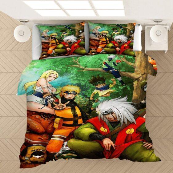 Tsunade Jiraiya Naruto Sage Mode Vibrant Fan Art Bedding Set