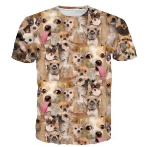 Ugly Angry Chihuahua Mania Cute Dog Pet Full Print 3D T-shirt - Woof Apparel