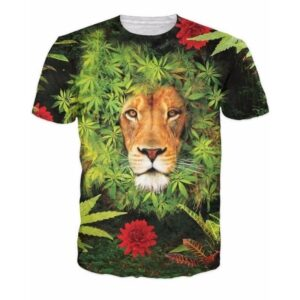 Herb Plant Weed Marijuana Leaves Lion's Mane Hipster Dope T-Shirt
