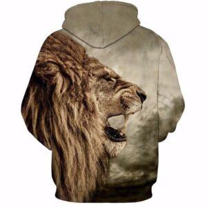 Wild King Royal Fierce Lion Roar Vintage Amazing 3D Hoodie - Woof Apparel