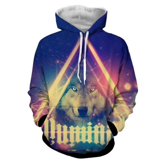 Wolverine Portrait Magical Lights Colorful Art Style Hoodie