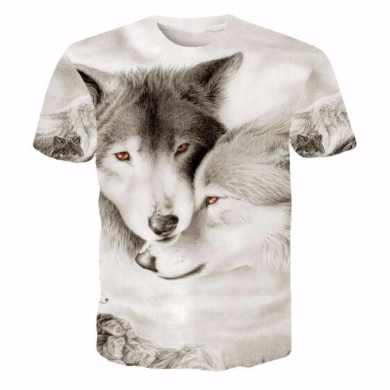 Wolves Pack Snow Alpha Beta Omega Romantic Forever Winter  T-shirt - Woof Apparel