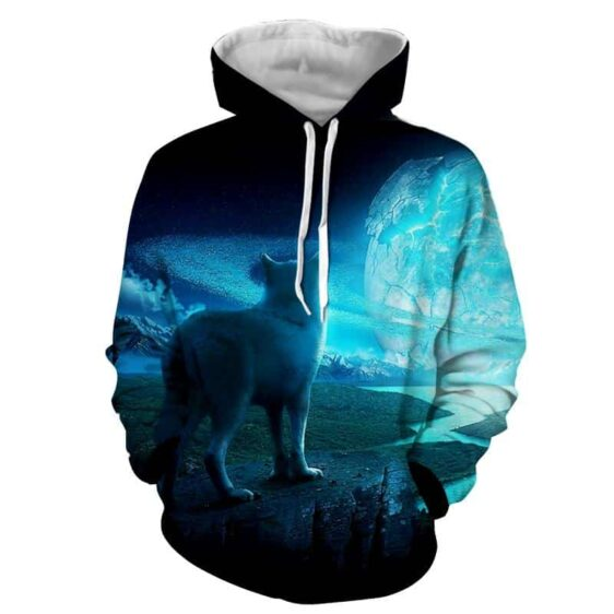 Young Wolf Exploring The Wild Alone Remarkable Hoodie