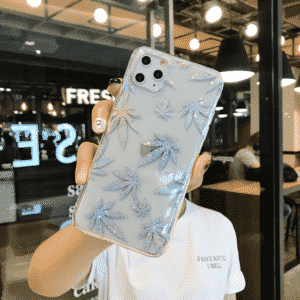 Silver Glitter Sparkle Weed iPhone 11 (Pro & Pro Max) Case