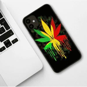 Weed Bob Marley Inspired Melt Art iPhone 11 (Pro & Pro Max) Case