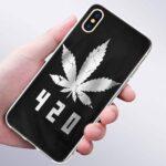420 Sliver Marijuana Leaf IPhone 11 (Pro & Pro Max) Cases