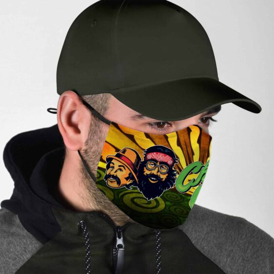 Adventures Of Cheech And Chong Marijuana Themed Face Mask