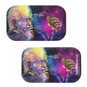 Albert Einstein Formula in Getting High THC Rolling Tray