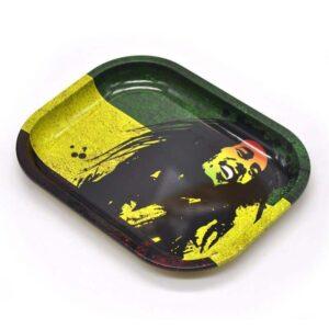 Bob Marley Silhouette Rasta Marijuana Rolling Tray