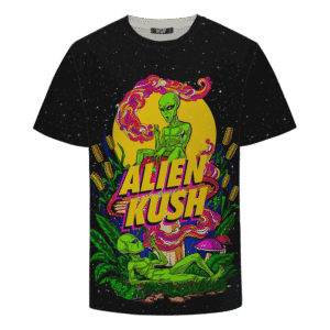 Calming Potent Alien Kush Indica Dominant Hybrid Marijuana T-Shirt