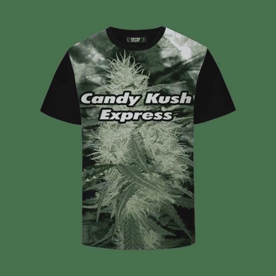 Candy Kush Express Strain Cool Real Strain Close Up Portrait T-Shirt