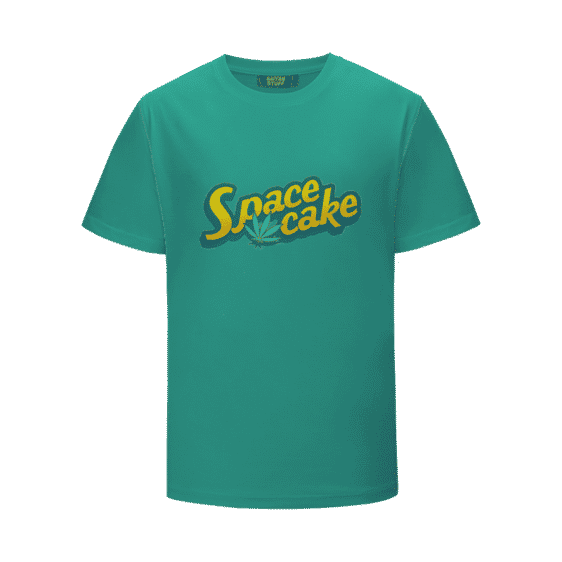 Cannabis Themed Sprite Design Space Cake Weed T-Shirt