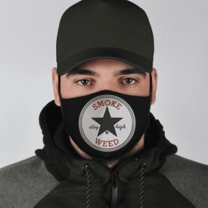 Converse Smoke Weed Stay High Marijuana Logo Awesome Face Mask