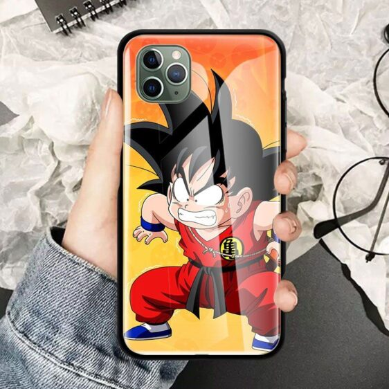 DBZ Angry Kid Goku iPhone 12 (Mini, Pro & Pro Max) Cases