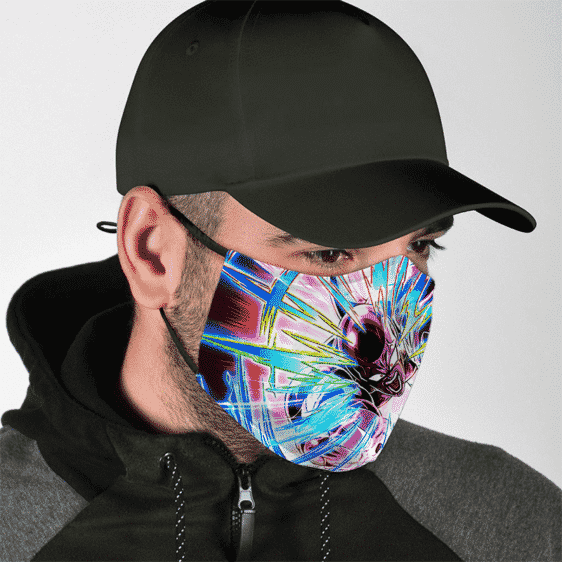 DBZ Attacking Frieza Dokkan Art Dope Face Mask