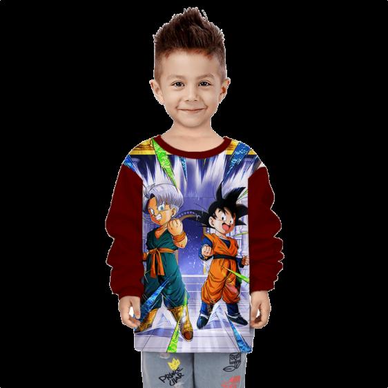 DBZ Budding Warrior Trunks & Goten Kid Cool Children's Sweater