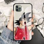 DBZ Goku Angry Basketball iPhone 12 (Mini, Pro & Pro Max) Cases