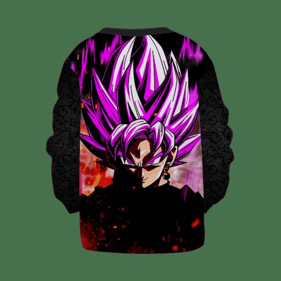 DBZ Goku Black Super Saiyan Rose Dark Cool Pattern Kids Sweatshirt