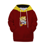 DBZ Keep Calm and Kamehameha Chibi Goku Kids Hoodie