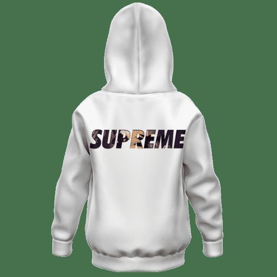 DBZ Kid Goku Bulma The Beggining Supreme Kids Hoodie Back