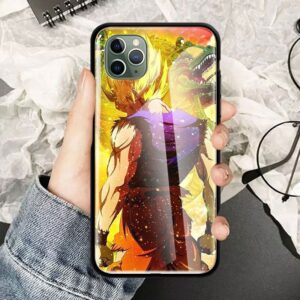 DBZ Super Saiyan Goku Shenron iPhone 12 (Mini, Pro & Pro Max) Cases