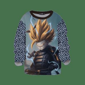 DBZ Trunks Samurai Fan Art Japanese Pattern Kids Sweatshirt